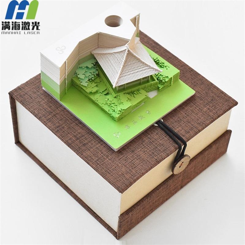 3d便签纸清水寺纸小桥流水立体纸雕模型便签纸创意抖音便签纸
