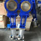 气动刀闸阀PZ673H、气动刀闸阀、铸钢气动刀闸阀