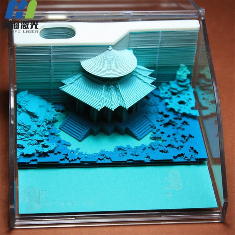 御花园3d立体模型便签纸定制日本清水寺便签纸批发厂家-满海激光雕刻