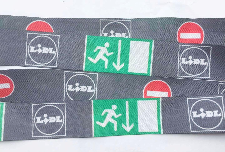 护栏带印刷印LOGO 广州飞机场定制专用