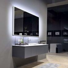 LED灯镜浴室镜壁挂带灯化妆镜卫生间镜子圆形卫浴镜智能镜子圆镜批发