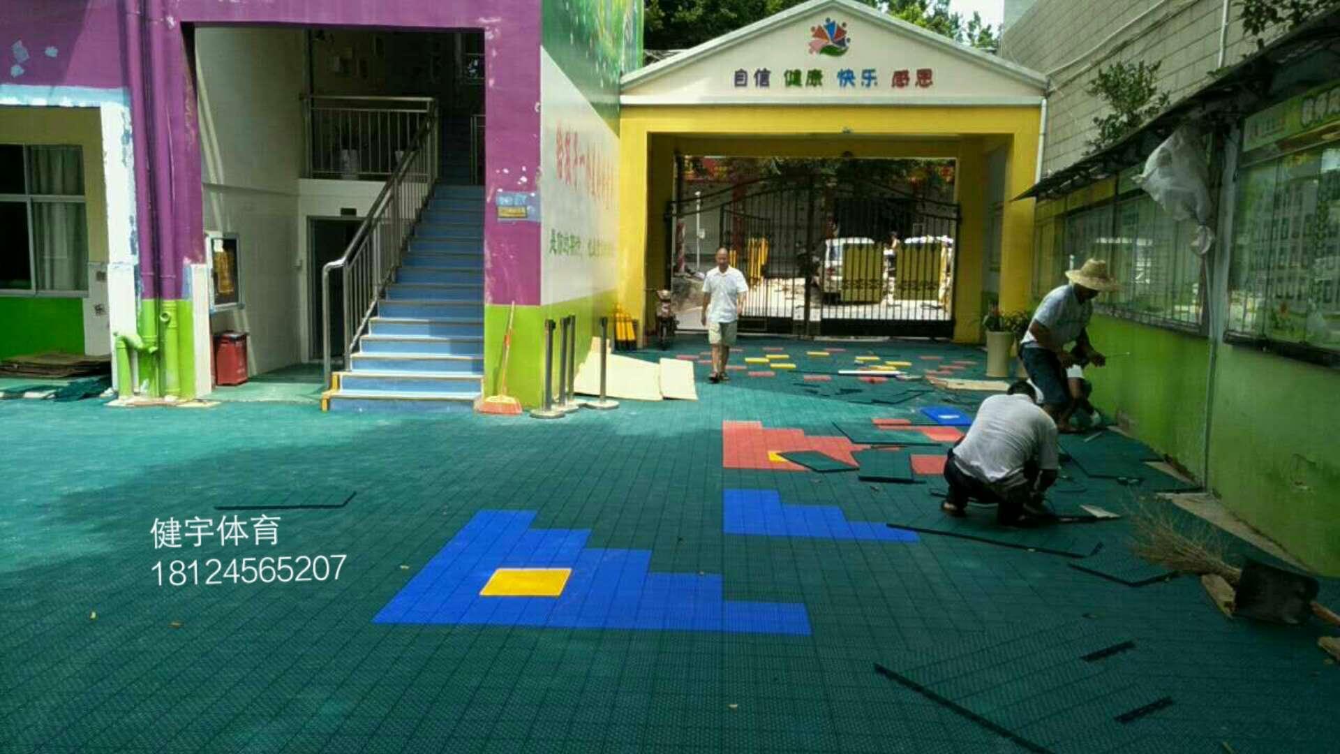 深圳市宝安区育蕾幼儿园悬浮地板拼装完工案列