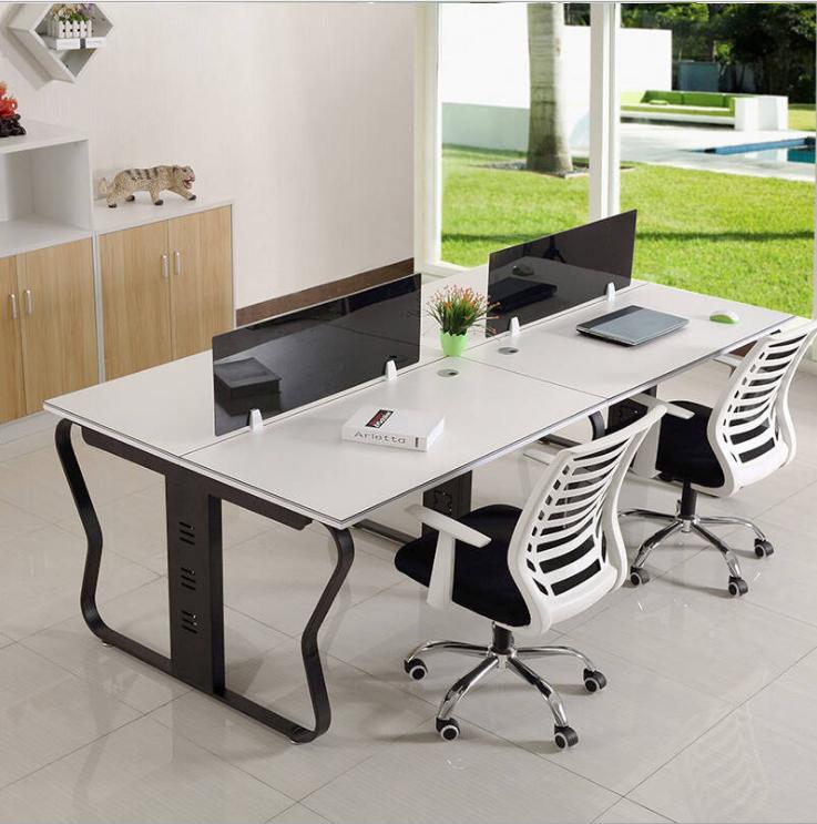 组合式办公桌  职员电脑桌 现代办公卡位 办公家具板式会议桌 现代欧式时尚电脑桌 蝴蝶架桌脚 钢架办公桌