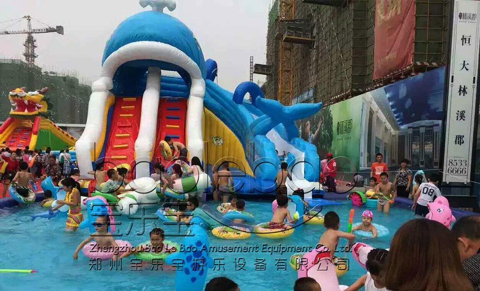 郑州宝乐宝  小鲸鱼水滑梯