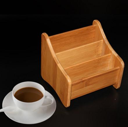 竹制收纳盒、竹遥 控器收纳盒置物架、 创意多功能桌面办公文具手机架、收纳盒卖家