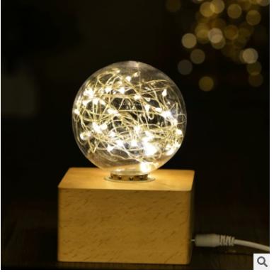 LED实木头灯装饰小夜灯台灯批发 创意生日礼品礼物