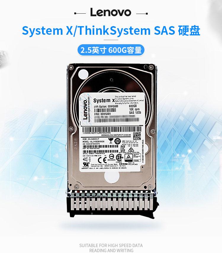 Lenovo/联想 IBM 00WG691 600GB SAS 10K 2.5英寸热插拔硬盘