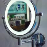 卫生间化妆镜子壁挂伸缩镜子浴室放大镜双面梳妆镜折叠美容镜 双面美容镜