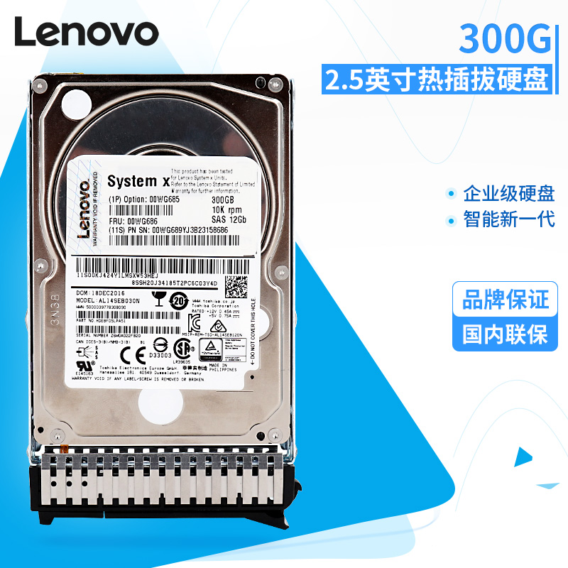 Lenovo/联想 IBM 00WG686 300G SAS 10K 2.5英寸热插拔硬盘 00WG685 300G