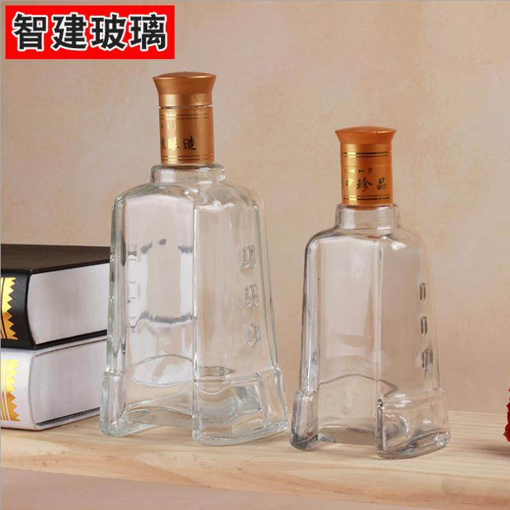 酒瓶批发 钟形玻璃酒瓶 透明劲酒瓶 无铅玻璃白酒瓶 药酒瓶可定制