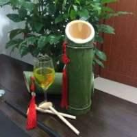 贵州竹筒酒代理加盟,黔东南活竹酒裸瓶贴标,息烽活竹酒500ml