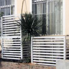 北京锌合金百叶窗,空调百叶围栏,无焊接结构的飘窗喷塑栏杆,新型防盗网颜色多样可定做批发