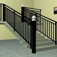 菏泽锌钢楼梯护栏,锌合金楼梯栏杆图片
