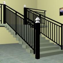 菏泽锌钢楼梯护栏,锌合金楼梯栏杆,仿木纹靠墙扶手,组装阳台护栏感恩的心批发