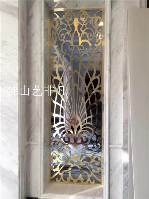天水简易风格铝板屏风 ,雕花镂空铝板屏风包安装