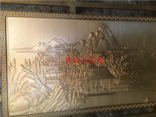 郴州铝门门花壁画高速铝板壁画雕刻板屏风精雕背景墙
