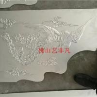 克拉玛依金属雕刻壁画 酒店大堂浮雕工艺画装饰 红古铜铝板雕刻工艺画定做