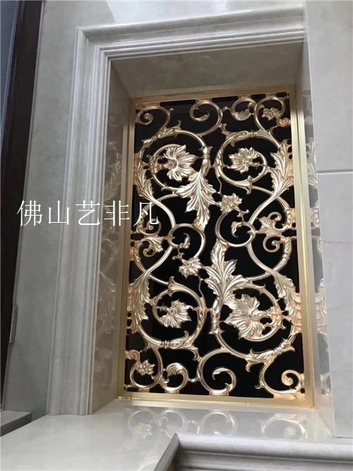 厂家直销供应  湛江铝板雕刻屏风 ,铝艺镂空花格背景墙常 铝艺雕刻屏风 服务好 质量有保障