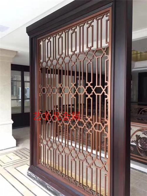 上海承接铝艺镂空雕花屏风 别墅工程不锈钢屏风生产厂家 可定制