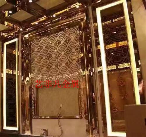 徐州厂家直销 欧式铝艺屏风 K金亮光屏风 可免费出图 免费打样