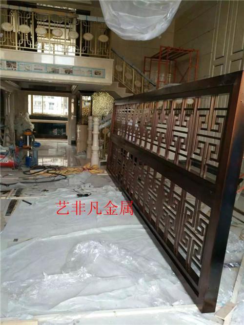 潍坊厂家批发 酒店别墅金属镂空屏风 现代简约雕刻不锈钢座屏