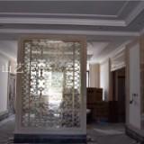 黄冈褐色红古铜中式复古弧形不锈钢屏风隔断 酒店会所艺术缕空花格