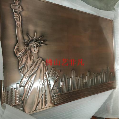 赣州酒店艺术浮雕壁画背景 数控精雕铝板浮雕壁画装饰挂件