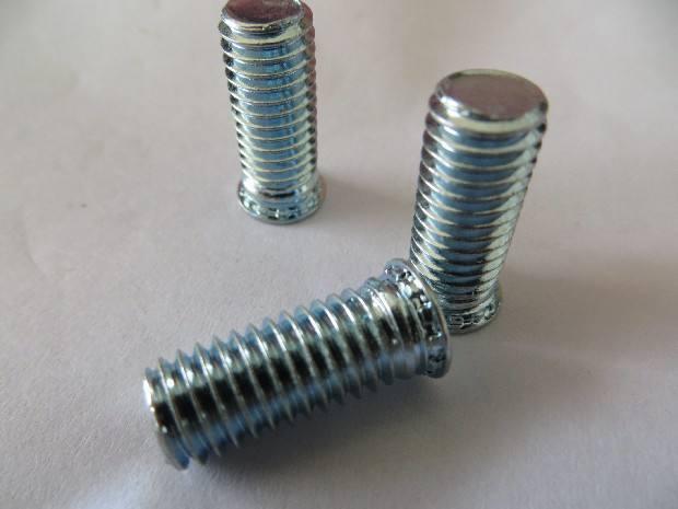 厂家直销种碳钢FH环保镀锌压铆螺钉M3-M8 六角压铆螺钉