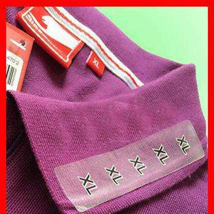 服装码数标签 透明服装码数标签