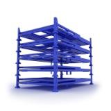 折叠堆垛架 折叠堆垛架堆垛架布匹布料轮胎冷库