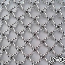 JY-062北京高级写字楼不锈钢螺旋装饰网 圆丝螺旋网帘 隔断 厂家定制批发