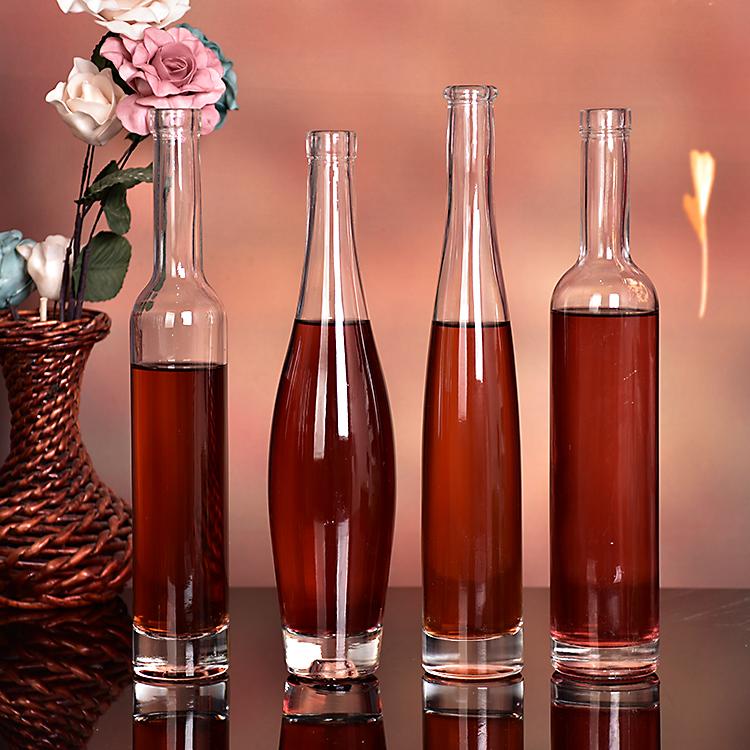 玻璃375ml冰酒瓶红酒瓶空瓶高档葡萄酒瓶果酒瓶子