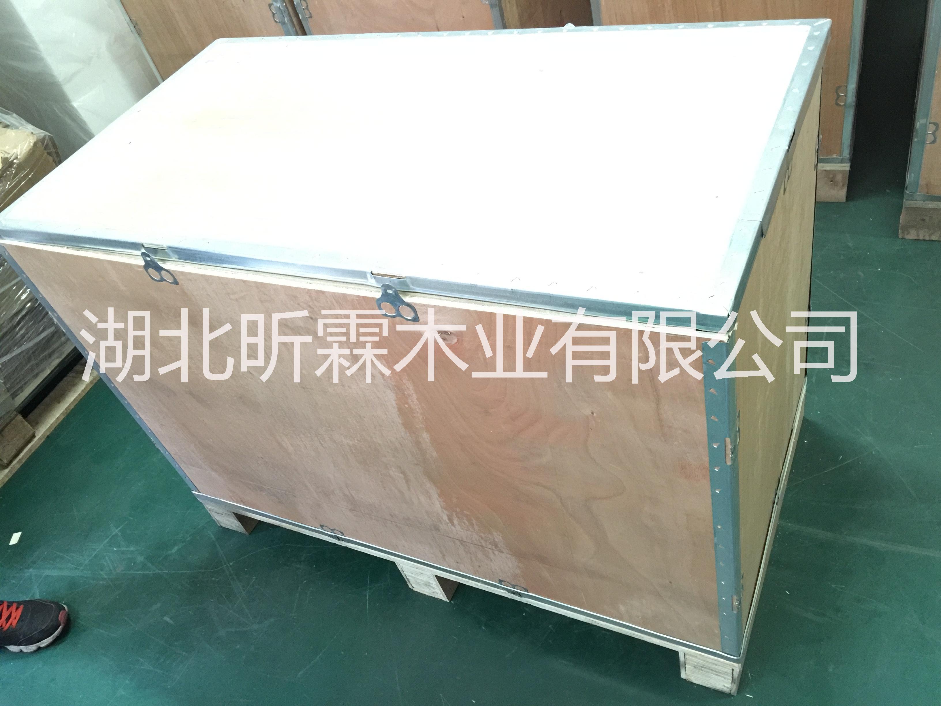 光谷出口木箱 密度板箱厂家 光谷钢带箱