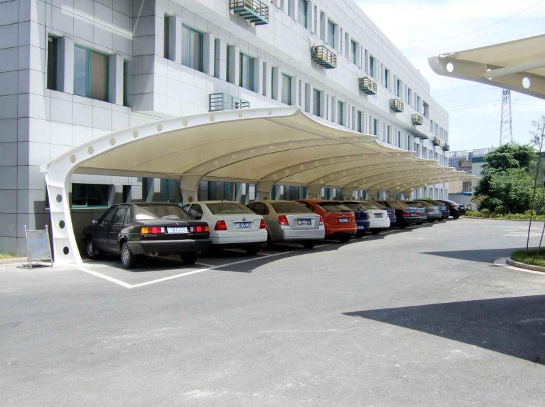 舟山停车棚 江苏膜结构停车棚订做可上门服务