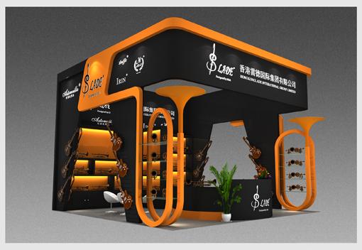 雷德国际乐器展特装展台设计搭建方案—励之闻展览