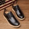 春季男士休闲鞋皮鞋商务内增高英伦图片