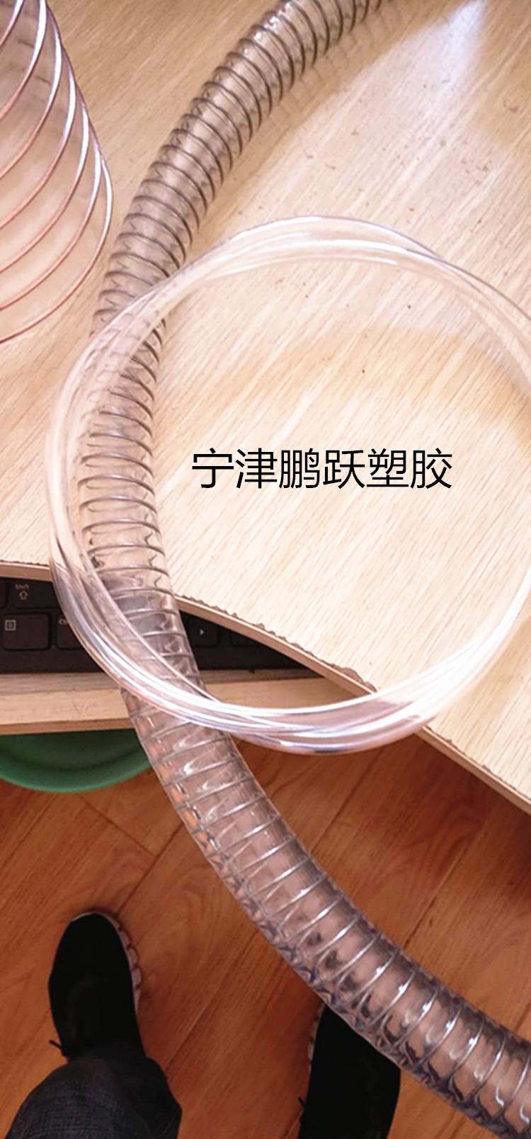 贵州pu食品级钢丝增强管内径25mm药品输送软管鹏跃塑胶软管(钢丝平滑管)