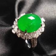玉名坊翡翠 阳绿翡翠戒指图片