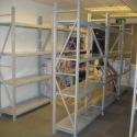家用钢木书架落地置物架多层书柜图片