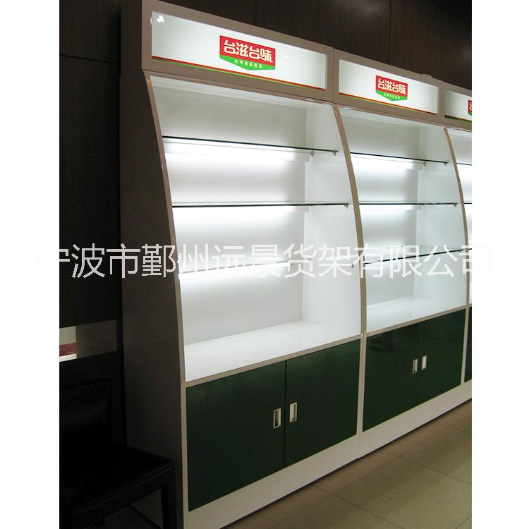 供应木质烤漆柜 精品展示柜 零食货架 玻璃展柜 木柜加工定做