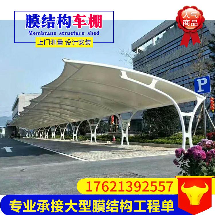 河北厂家承接安装小区学校医院膜结构 膜结构停车棚汽车棚遮阳棚