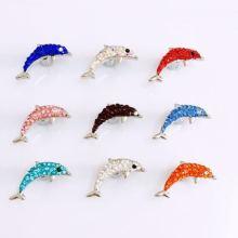 饰品配件新款点钻海豚饰品扣,饰品扣,供应饰品扣,饰品扣供应商,饰品扣直销,饰品扣厂家