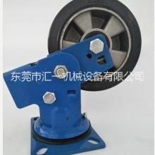 重型弹簧减震橡胶轮 广东弹簧减震轮 工业脚轮6寸万向铝芯橡胶弹簧橡胶减震轮批发