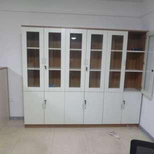 钢木书架书柜简约现代置物架落地图片