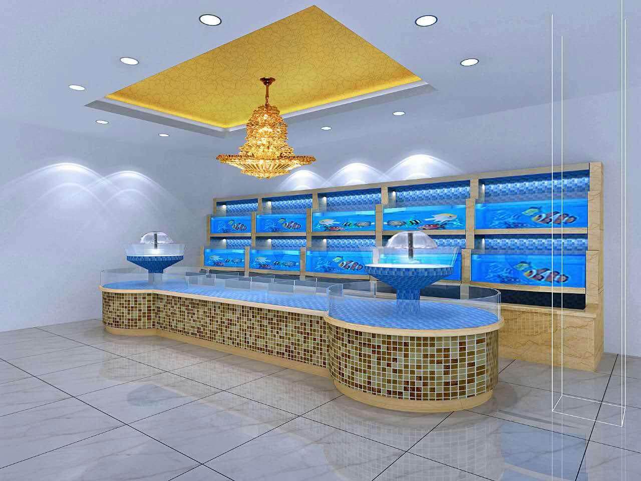 杭州水族供应酒店鱼缸