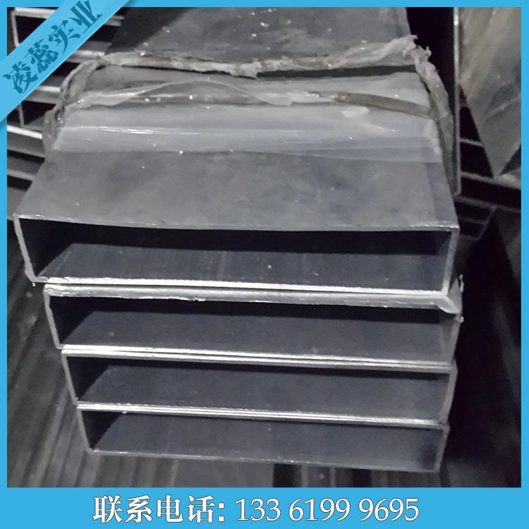 优质铝方管100*150*3素材铝管6063铝合金扁通