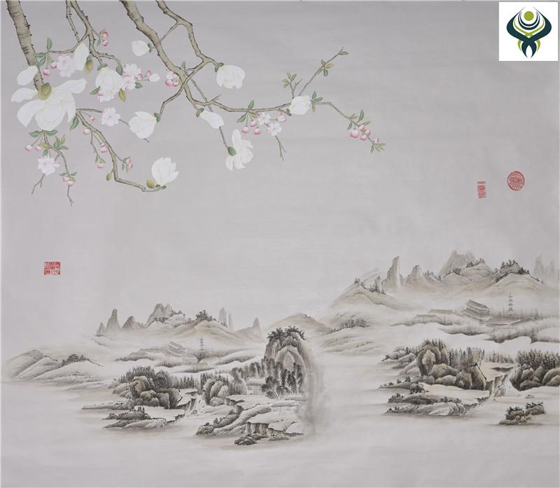 【优质丝绸手绘壁画】 丝绸手绘壁画厂家 【品牌/图片/价格】