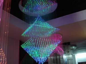 厂家LED光纤灯现代灯后现代新款时尚简约 LED光纤吊灯 LED凌乱吊灯 光纤定制吊灯 光纤非标定制