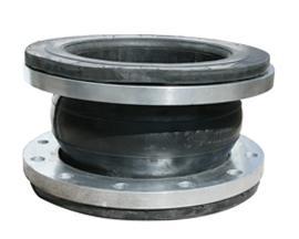 耐腐蚀耐强酸法兰橡胶软接头 耐磨橡胶软接头厂家 DN50弯头型橡胶软接头