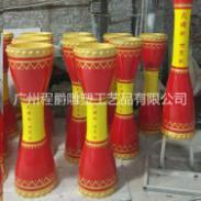 玻璃钢鼓柱型花盆雕塑图片